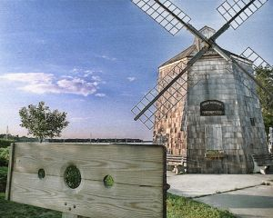 hamptons slide show, windmill, sag harbor, canvas transfer, zzz